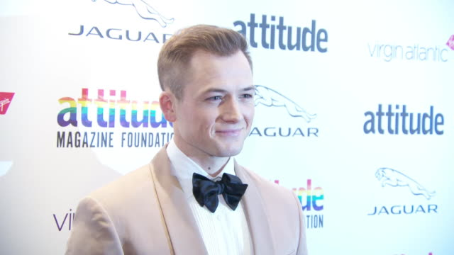 taron egerton at virgin atlantic attitude awards powered by jaguar 2019 at the roundhouse camden at the roundhouse on october 9, 2019 in london,... - attitude stock videos & royalty-free footage