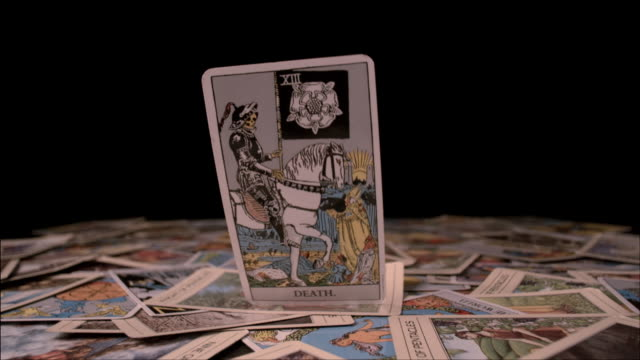 tarot cards - tarot cards stock videos & royalty-free footage