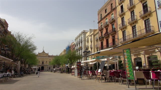 Tarragona Streets with Restaurants in Spain