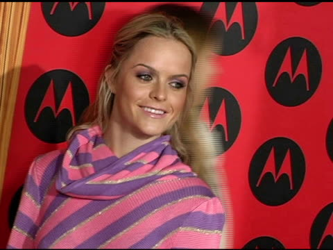 taryn manning at the motorola 6th anniversary holiday party arrivals at the music box theater in hollywood, california on december 2, 2004. - taryn manning stock videos & royalty-free footage