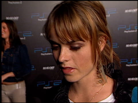 taryn manning at the playstation 2 grammy awards party at pacific design center in west hollywood california on february 25 2002 - pacific design center stock videos and b-roll footage