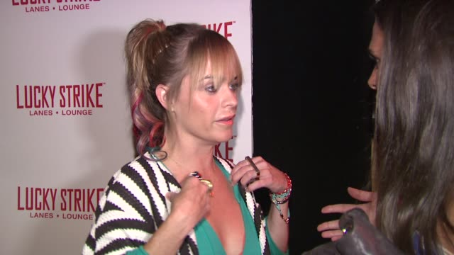 taryn manning at the puma x lucky strike bowling shoe launch at new york ny. - taryn manning stock videos & royalty-free footage