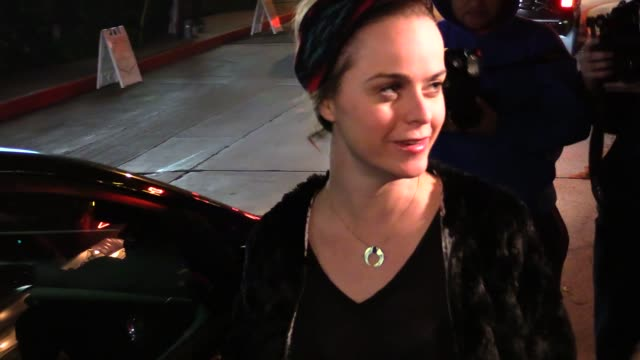 taryn manning greeting fans at chateau marmont in los angeles at celebrity sightings in los angeles on february 19, 2015 in los angeles, california. - taryn manning stock videos & royalty-free footage