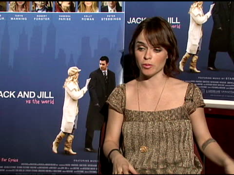 taryn manning on auditioning for parts at the interview with taryn manning and vanessa parise of 'jack and jill vs the world' at null in los angeles,... - taryn manning stock videos & royalty-free footage