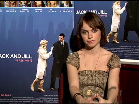 taryn manning on the working environment in the film, her favorite part of the film, and the challenge of working on the film at the interview with... - taryn manning stock videos & royalty-free footage