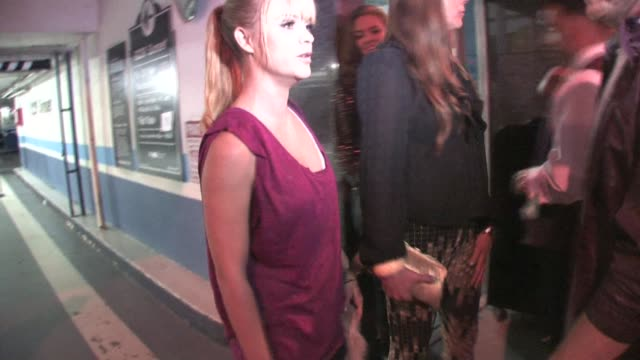 taryn manning outside nylon magazine's music issue party in hollywood at the celebrity sightings in los angeles at los angeles ca. - taryn manning stock videos & royalty-free footage