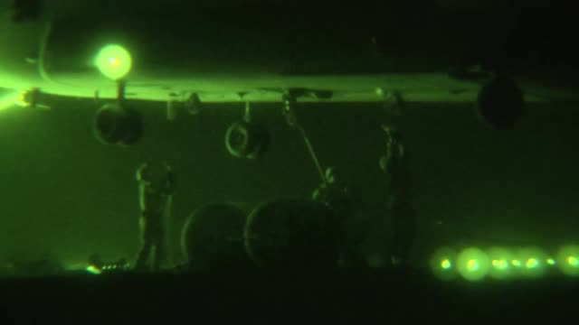 task force corsair 82nd combat aviation brigade ch47f chinooks perform night sling load operations on forward operating base shank aug 14 2012 ch47s... - night vision stock videos and b-roll footage