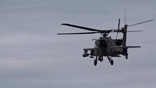 task force viper 1st battalion 3rd attack reconnaissance battalion 12th combat aviation brigade provides air support with ah64d apache longbow... - longbow stock videos and b-roll footage
