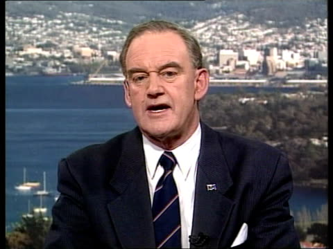 port arthur massacre: death toll rises to 34; australia: tasmania: hobart: cms michael hodgman intvwd sot - worst day of my life/ the community is... - law stock videos & royalty-free footage