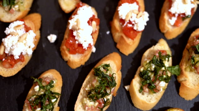 tasty canapes - spinach salad stock videos & royalty-free footage