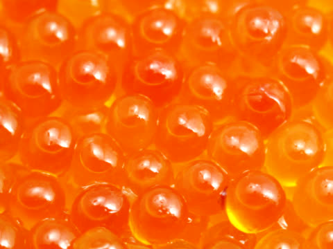 ntsc: tasty delicious red caviar (video) - red delicious stock videos & royalty-free footage