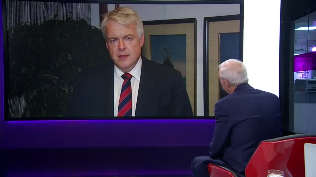 government row over secret plan to rewrite pension law england london gir int carwyn jones 2way interview from mumbai sot we had a very positive... - sustainability stock videos & royalty-free footage