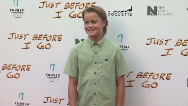 tate berney at the just before i go los angeles premiere at arclight cinemas on april 20 2015 in hollywood california - arclight cinemas hollywood stock videos & royalty-free footage
