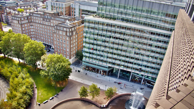 tate modern art gallery. residential and corporate building. view from above. - bible stock videos & royalty-free footage