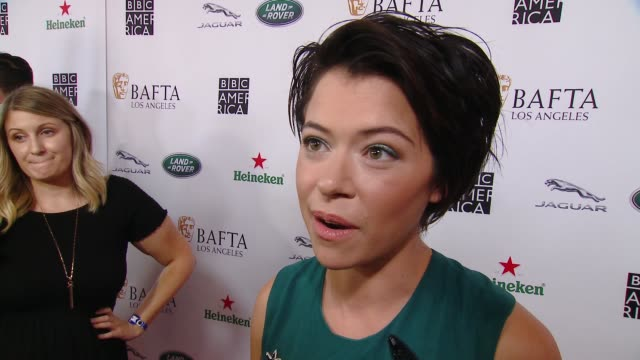 interview tatiana maslany on why the bafta la tv tea party is a mustattend event what she is most looking forward to at 2018 bafta los angeles bbc... - bafta la tea party stock videos and b-roll footage
