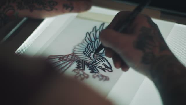 Tätowierung Künstler Zeichnung Adler