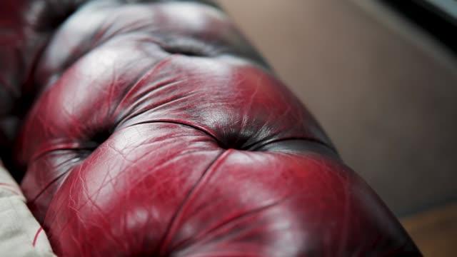 tattoo studio sofa - cushion stock videos and b-roll footage