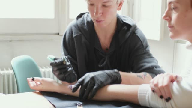 tattooing - forearm stock videos and b-roll footage