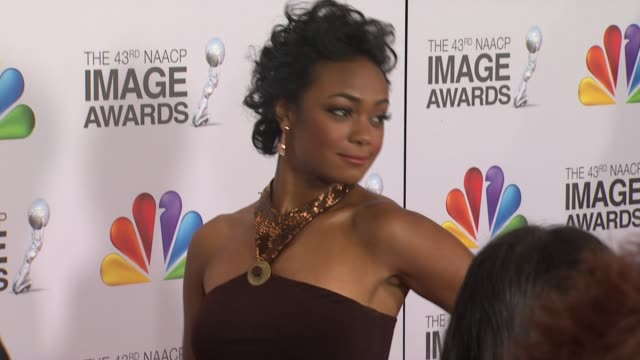 tatyana ali at the 43rd naacp image awards arrivals on 2/17/12 in los angeles ca - tatyana ali stock videos & royalty-free footage