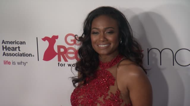 tatyana ali at the american heart association's go red for women red dress collection 2018 presented by macy's at hammerstein ballroom on february 08... - tatyana ali stock videos & royalty-free footage