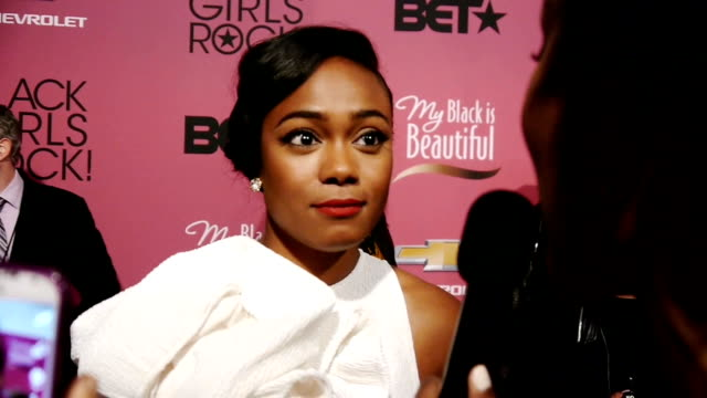 tatyana ali in michael costello discusses the importance of black girls that rock and the women that have influenced her life - tatyana ali stock videos & royalty-free footage