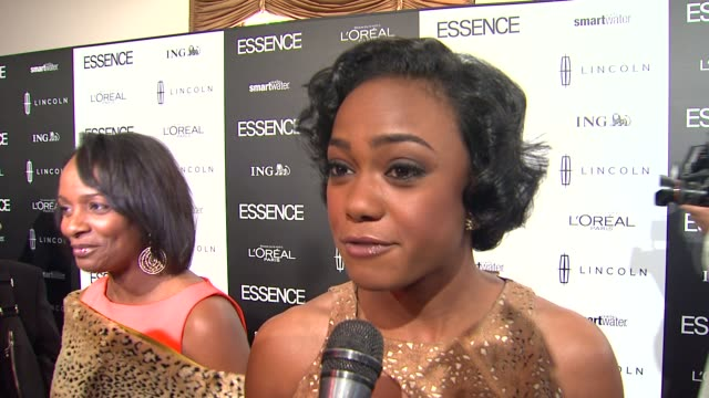 tatyana ali on the event at 5th annual essence black women in hollywood luncheon on 2/23/2012 in beverly hills ca - tatyana ali stock videos & royalty-free footage