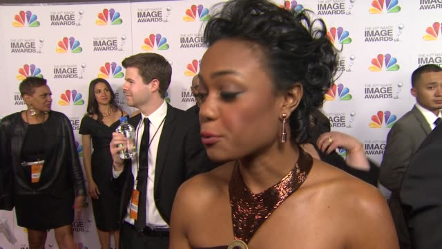 tatyana ali on the event at the 43rd naacp image awards arrivals on 2/17/12 in los angeles ca - tatyana ali stock videos & royalty-free footage