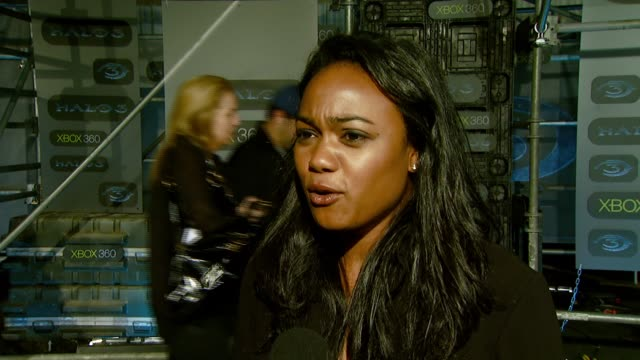 tatyana ali on the event the appeal of the halo storyline and what it takes to be good at the game at the xbox 360® halo 3 sneak preview at quixote... - tatyana ali stock videos & royalty-free footage