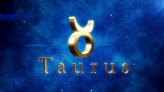taurus (zodiac air sign) | loopable - cancer astrology sign stock videos and b-roll footage