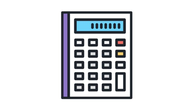 tax calculation​‎ flat line icon animation with alpha - tax form stock videos & royalty-free footage