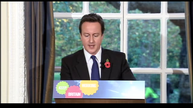 david cameron press conference cameron press conference sot today we're announcing another proposal that meets all these criteria one of the biggest... - unemployment benefit stock videos & royalty-free footage