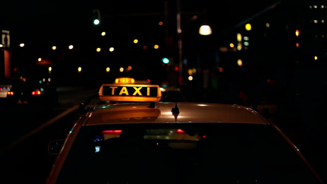 taxi at night - taxi stock videos & royalty-free footage
