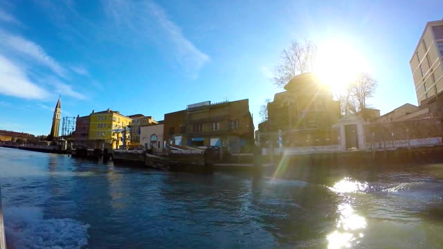 taxi boat in the venetian lagoon - water taxi stock videos & royalty-free footage