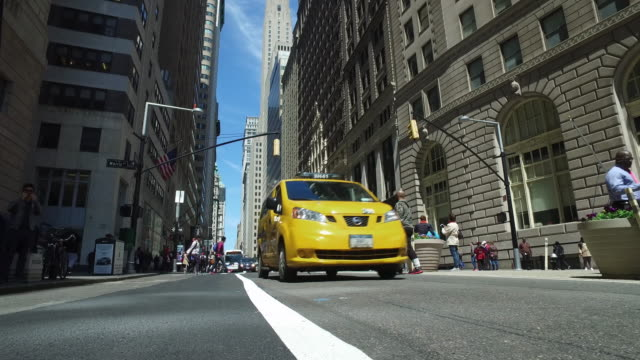 Taxi Cab in Downtown Wall Street financial district