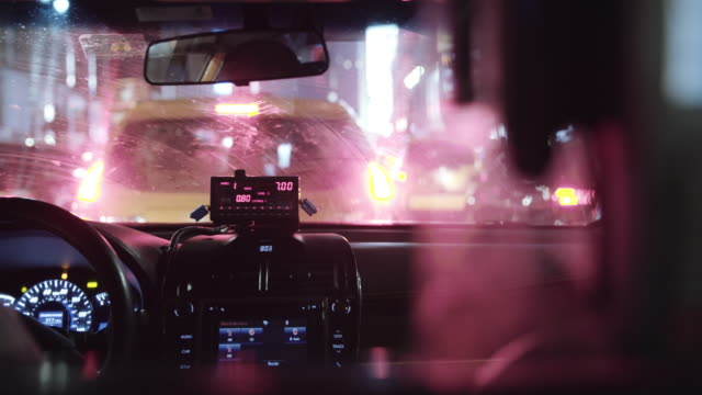 taxi cab interior. - taxi stock videos & royalty-free footage