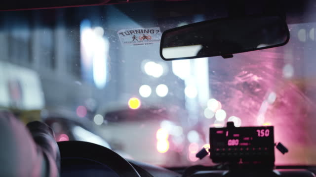 taxi cab interior. - yellow taxi stock videos & royalty-free footage