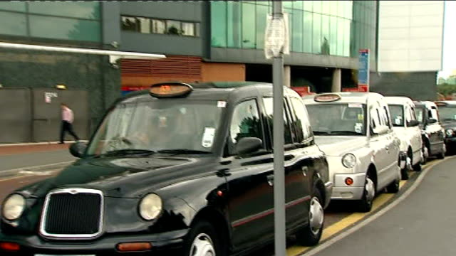 ext taxi rank outside old trafford vox pops taxi drivers - taxi rank stock videos & royalty-free footage
