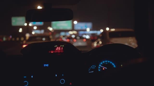 stockvideo's en b-roll-footage met taxirit in de stad - taxi