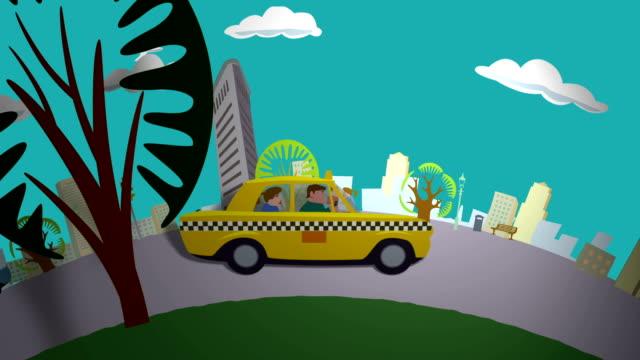 Taxi Ride through New York