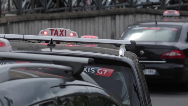 Taxis Exiting, Gare de Lyon, Paris, France, Europe
