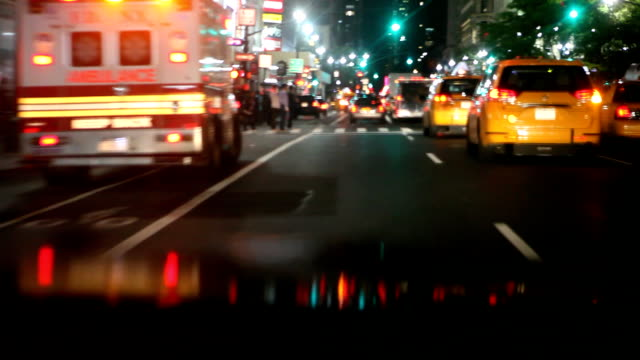 taxis ride new york - yellow taxi stock videos & royalty-free footage