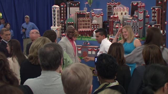 Taye Diggs and 'Cake Boss' Buddy Valestro at the Amtrak Kicks Off National Train Day 2010 NY at New York NY