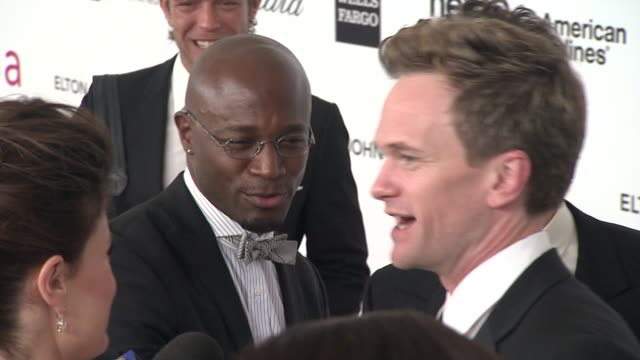 Taye Diggs and Neil Patrick Harris at Elton John Aids Foundation Celebrates 20th Annual Academy Awards Viewing Party on 2/26/12 in Hollywood CA