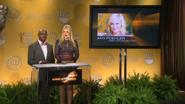 taye diggs busy philipps announce the 19th annual screen actors guild award nominations taye diggs busy philipps announce the 19th annual at pacific... - pacific design center stock videos and b-roll footage