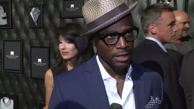 INTERVIEW Taye Diggs discusses Michael Strahan's style at JCPenney And Michael Strahan Launch Collection By Michael Strahan at ArtBeam on September...
