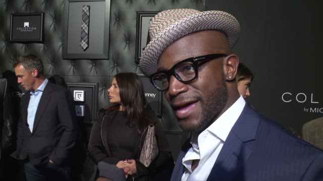 INTERVIEW Taye Diggs explains that he is at the launch to support his friend Michael Strahan at JCPenney And Michael Strahan Launch Collection By...