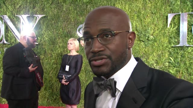 INTERVIEW Taye Diggs on celebrating where he came from and his favorite memory at 2015 Tony Awards Arrivals at Radio City Music Hall on June 07 2015...