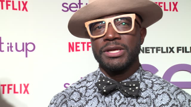 interview – taye diggs on his favorite moment shooting the movie which of his costars would most likely be found hanging out at craft services who... - proiezione evento pubblicitario video stock e b–roll