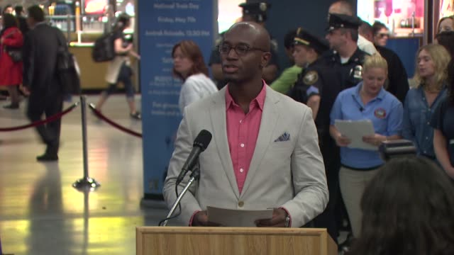 Taye Diggs on New York being his home town on his love of trains and today's event at the Amtrak Kicks Off National Train Day 2010 NY at New York NY