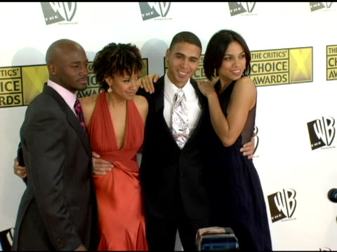 Taye Diggs Tracie Thoms Wilson Jermaine Heredia and Rosario Dawson at the 2006 Critics' Choice Awards arrivals at Santa Monica Civic Auditorium in...
